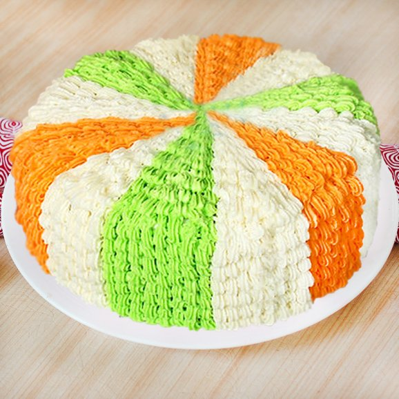 Contentment Colorful Cake