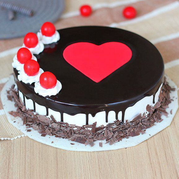 Hearty Heart Black Forest Cake
