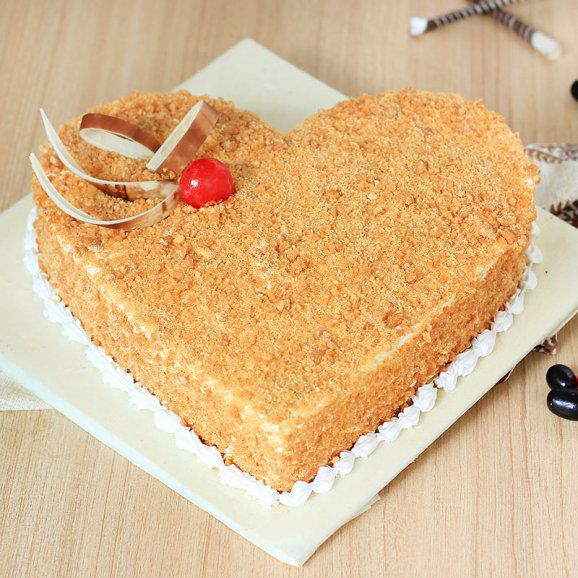 Nut Heart Butter Scotch Cake