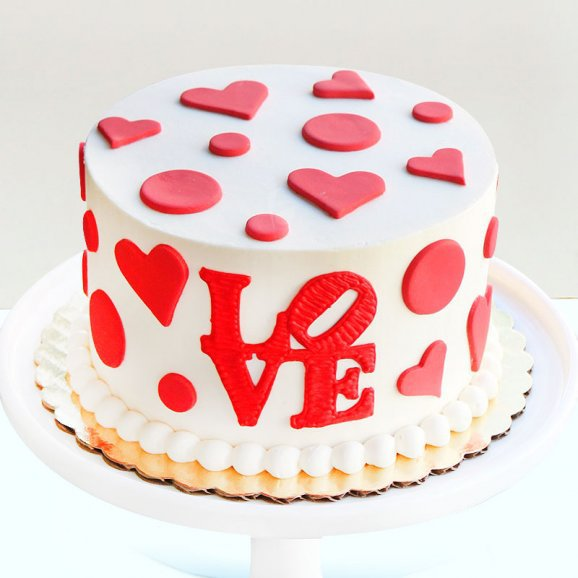 Heart Filled Love Cake
