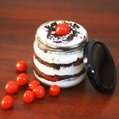 Classic Black Forest Jar Cake (2 Jars)