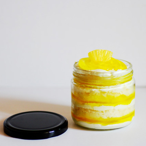 Crunchy Pineapple Jar Cake (2 Jars)