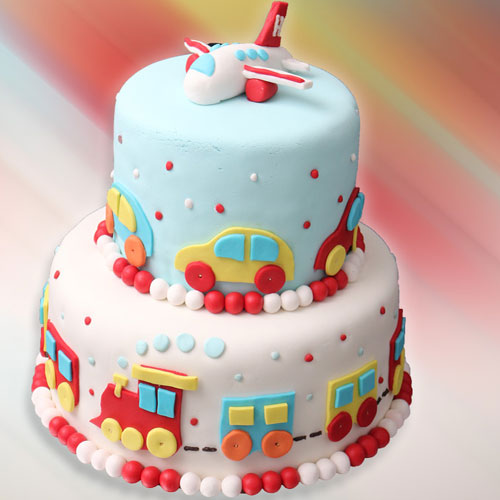 Vehicles Fondant Cake