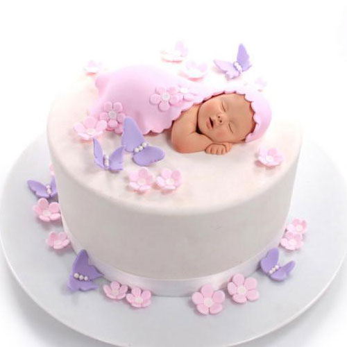 Gorgeous Baby take a nap Fondant Cake