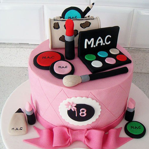 Cute Cosmetic kit Fondant Cake