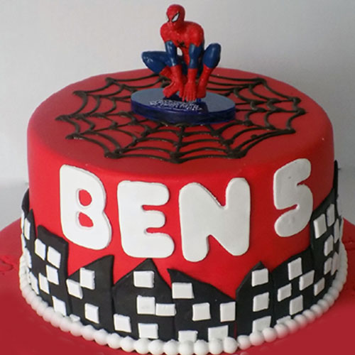 Marvel  Spider Man Fondant Cake
