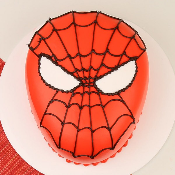 Spiderman Face Fondant Cake