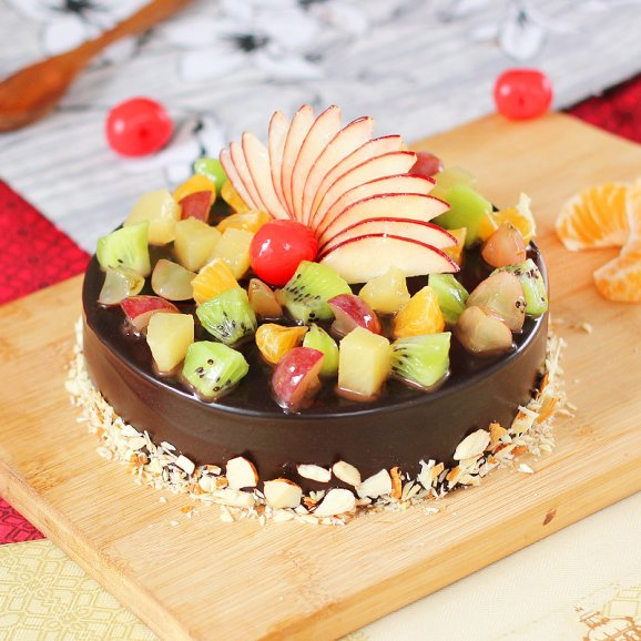 Nuts N Fruits Choco almond with fruit Cake